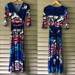 Pinkblush Maternity Faux Wrap Maxi Dress
